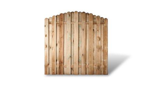 meingartenversand.de 6 x günstiges Holz Gartenzaun + Sichtschutzzaun im Maß 180 x 180 auf 160 cm (Breite x Höhe) Bochum Aktionsset