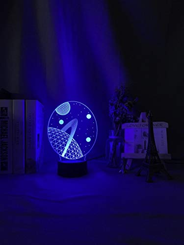 3D night light 3d Illusion Baby Night Light Space Planet Nightlight for Kids Child Bedroom Decoration Usb Battery Powered Desk Unique Lamp Gift