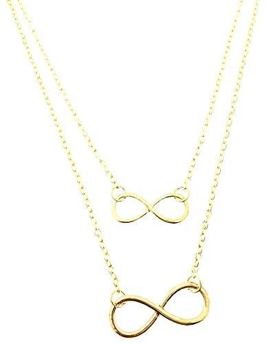 Infinity ketting - multidraad - vrouw - twee draden - meerlagig - origineel cadeau-idee - valentijnsdag - goud - kerstmis - origineel cadeau-idee - sieraden - verjaardag