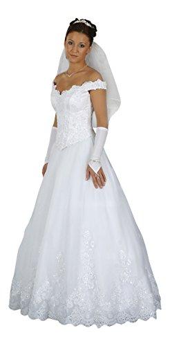 Brautkleid Dajana mit Schleppe, weiß, inkl. Maßanfertigung - 2