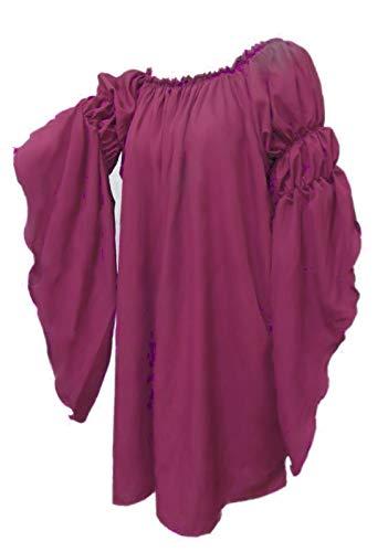 Renaissance Medieval Peasant Dress Up Pirate Faire Celtic Blouse (Rose)