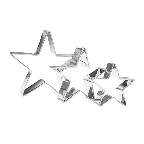 Star Cookie Cutter Set - 3 Piece - Stainless Steel