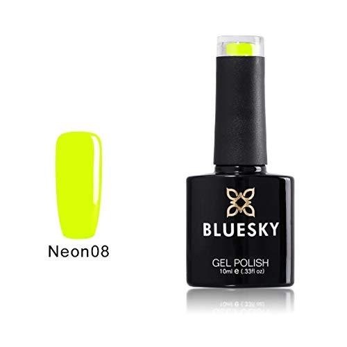 Uñas de gel UV LED Bluesky 10ml esmalte neón resoluble amarillo, Paquete 1er (1 x 10 ml)