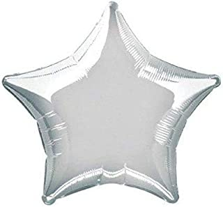 بالونات هيليوم صغيرة على شكل نجمة مقاس 5 انش من جلف ديلز - فضي