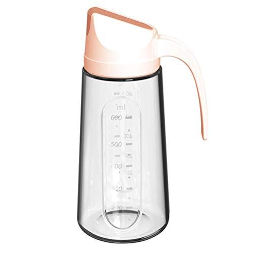 Cabilock Botella Dispensadora de Aceite de Vidrio de 750 Ml Recipiente Dispensador de Condimentos con Tapón Automático Botella Dispensadora para Aceite Vinagre Rosa