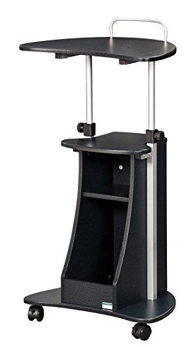 SixBros. rollbarer Laptoptisch, Projektionstisch mit 4 Leichtlauf Schwenkrollen, Stehtisch für Beamer, höhenverstellbar, 55 x 45 cm LT-002/54