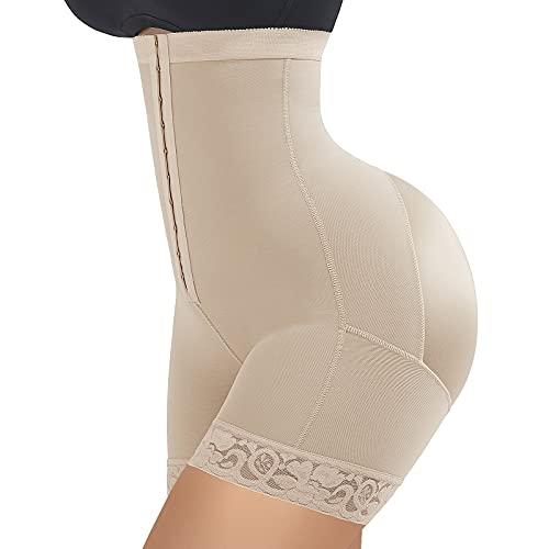 Tummy Control Shapewear Slimming Body Shaper Control Panty Firm Boyshorts Beige 3XL