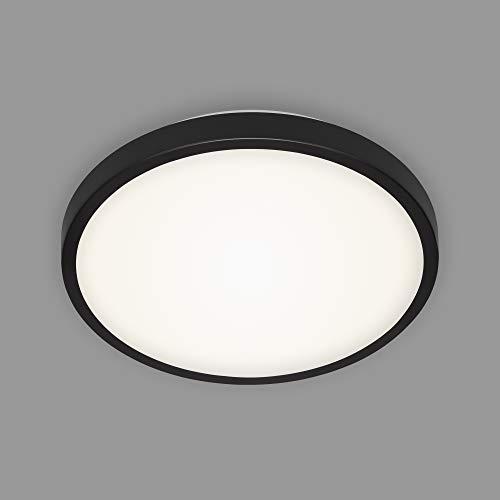 Briloner Leuchten - LED Deckenleuchte, Deckenlampe, 12 Watt, 1.200 Lumen, 4.000 Kelvin, Schwarz-Weiß, Ø 29cm