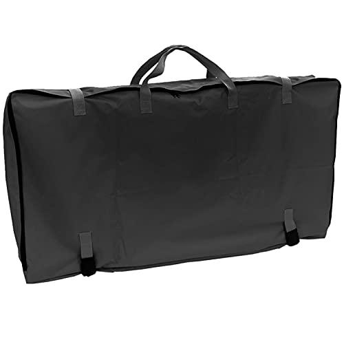 Aufbewahrungstasche für 2 Stühle - 118 x 65 x 18 cm - Transport Tasche mit Trennfach - Tragetasche für Stuhl - schwarz - 600D Polyester - wasserdicht - mit Zugriemen