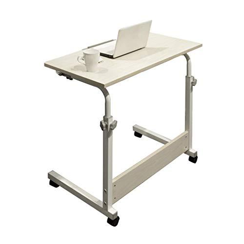 Decoración de muebles Mesa pequeña cuadrada multifunción Escritorio de computadora móvil Mesa plegable minimalista moderna Escritorio de aprendizaje en el hogar Escritorio de altura ajustable (Tama