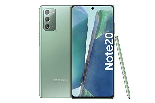 Samsung Galaxy Note 20 Android Smartphone ohne Vertrag Triple Kamera Infinity-O Display 256 GB Speicher starker Akku Handy in grün inkl. 36 Monate Herstellergarantie [Exklusiv bei Amazon]
