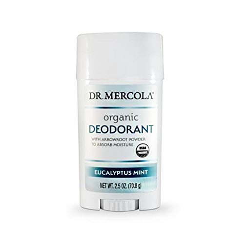 Dr Mercola Deodorant with Arrowroot Powder, Eucalyptus Mint, 70.8g
