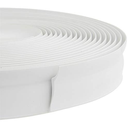 32.8 Feet Long Garage Door Weather Stripping Top and Sides Rubber Seal Strip Replacement, Weatherproofing Universal Sealing Professional(White)