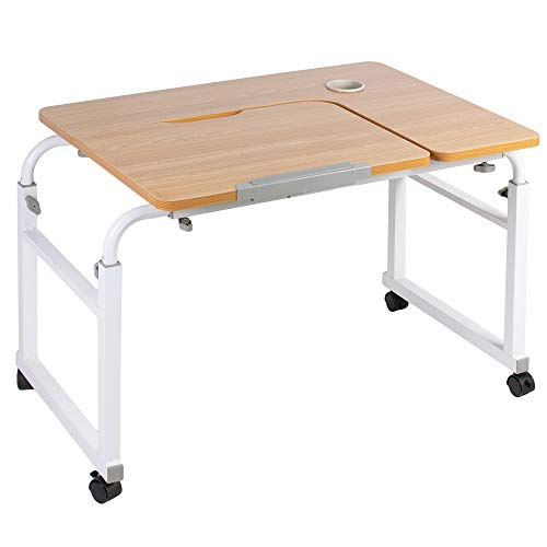 VIVO Height and Length Adjustable Mobile Desk for Kids and Adults, Tilting Table Top, Rolling Interactive Ergonomic Workstation on Wheels, DESK-V202A