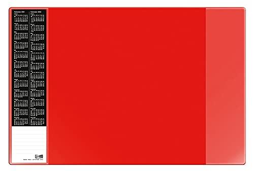 Veloflex 4680321 Schreibunterlage Velocolor, Schreibtisch-Unterlage, mit Kalender, 40 x 60 cm, rot