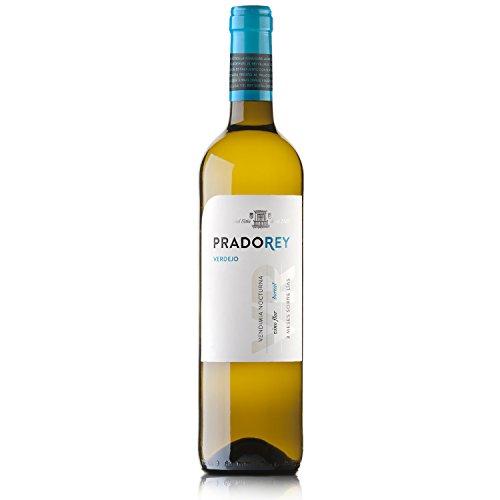 PRADOREY Verdejo - Weißwein - Spanischer Wein - Rueda - 100% Verdejo -Weinlese in der Nacht - Vorlaufwein - 3 Monate Ausbau auf der Feinhefe - 1 Flasche - 0,75 L