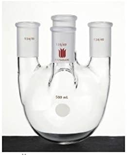 Kemtech America F44843 L Synthware Round Bottom 3-Neck Flask with Center 29//42 and Side 24//40 Joints 3 L