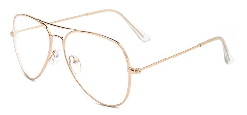 Outray Classic Aviator Metal Frame Clear Lens Glasses 2167c2 Gold