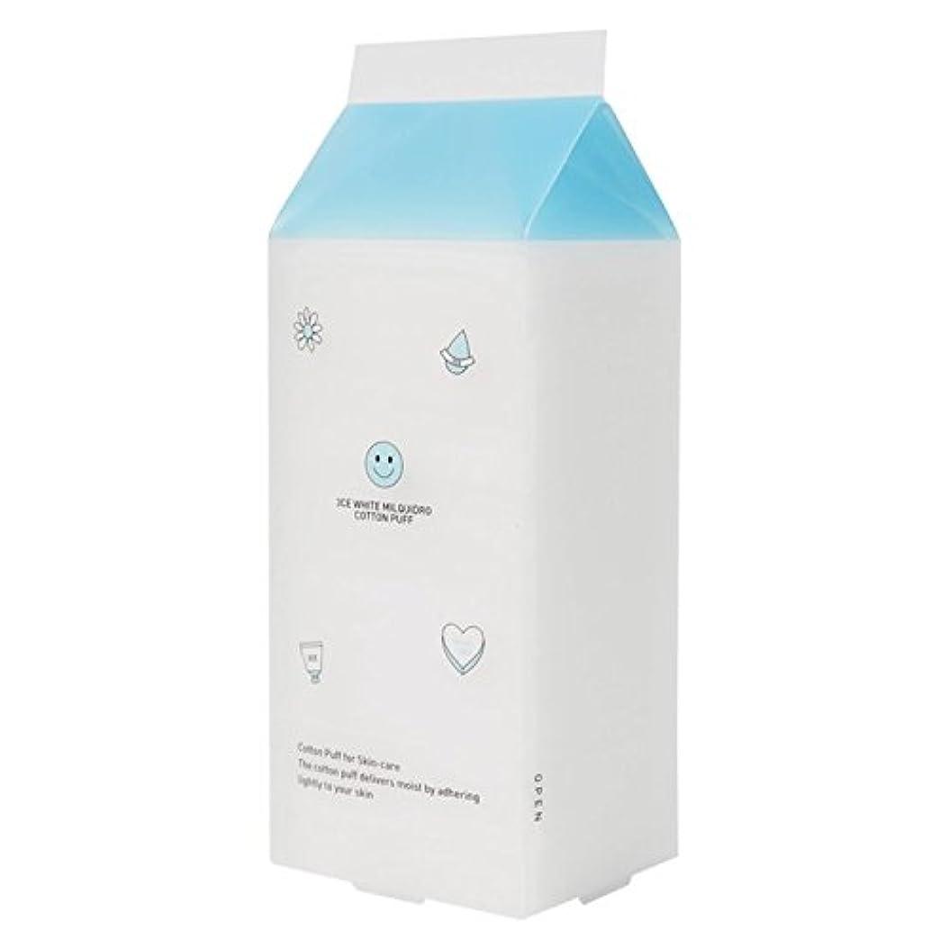 染色一方、空中3CE WHITE MILQUIDRO COTTON PUFF / 3CE ホワイトミルクウィドローコットンパフ 100枚 [並行輸入品]