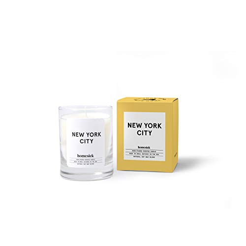 Homesick New York City Mini Scented Candle (10 to 12 hr Burn Time), 1.5 oz
