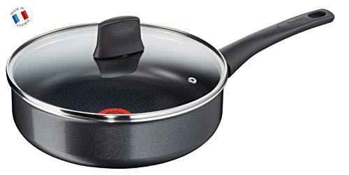 Tefal C3673302 Elégance - Sartén con tapa (aluminio, 26 cm), color negro