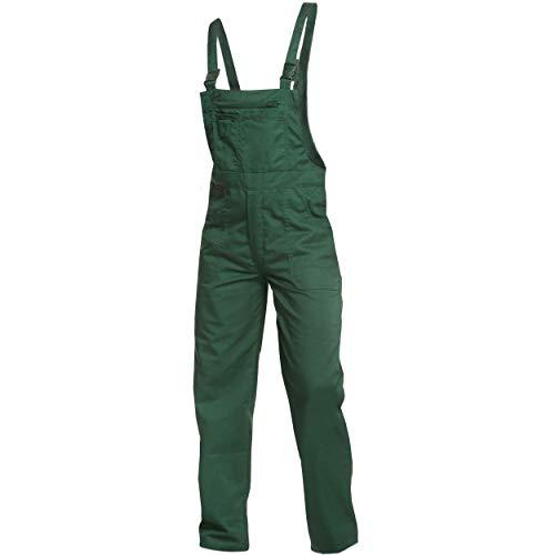 Sweat Life Charlie Barato® Gärtnerhose - waschfesteLatzhose grün - robuste Arbeitshose (48)