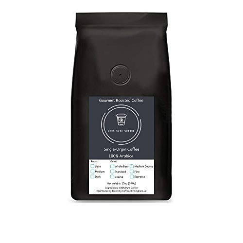 Iron City Coffee Papua New Guinea Roasted Coffee Beans Dark Roast,100% Arabica Single-Origin Coffee, 12oz-12lb Bag Sizes