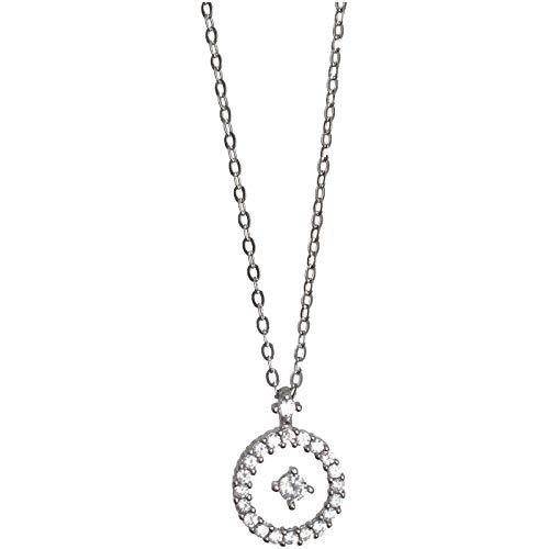 XIANNVQB 925 Silber Halskette,Transparente Schwimmende Kreative Flash Diamant Silber Halskette Süße Schlüsselbein Kette Literarische Und Frische Anhänger Mode Schmuck Geschenk