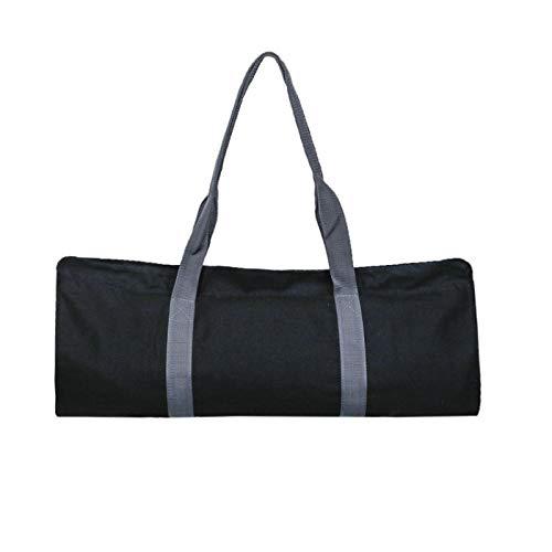 Grantien Bolsa para Esterilla De Yoga, Bolsa De Yoga con Bandolera Y 4 Bolsillos, Lona Negra 65 * 28cm