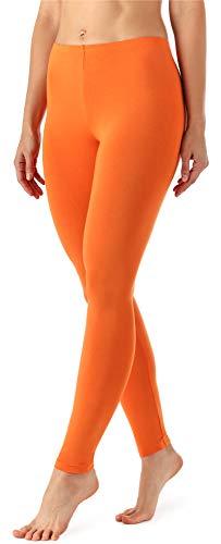 Merry Style Damen Lange Leggings aus Viskose MS10-143 (Orange, M)