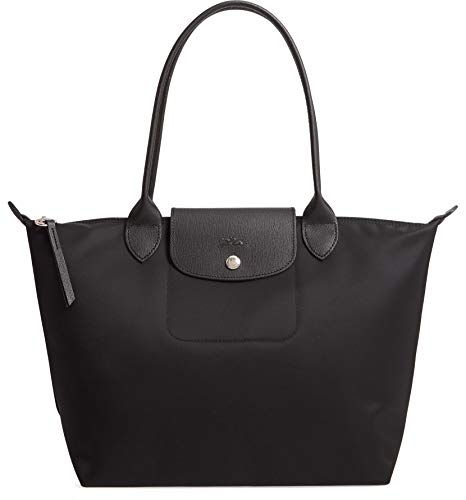 Longchamp 'Small Le Pliage Neo' Nylon Tote Shoulder Bag, Black