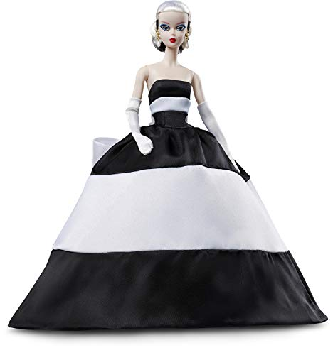 Barbie Collector Muñeca rubia Black and White Forever (Mattel FXF25)