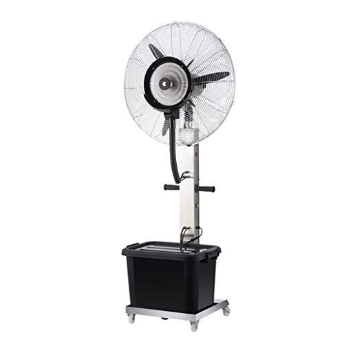 Ventilador de pie de pedestal para ventilador de piso de construcción de fábrica Columpio de acero inoxidable Atomización de agua ajustable Silencio Ajuste de enfriamiento de fábrica Ajuste de 3 eng