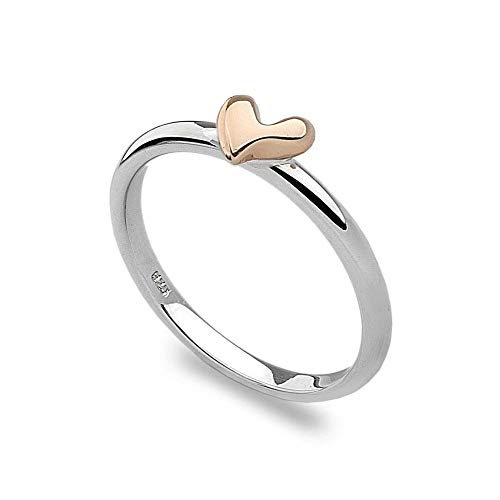 Rose Gold Heart Stack Ring P