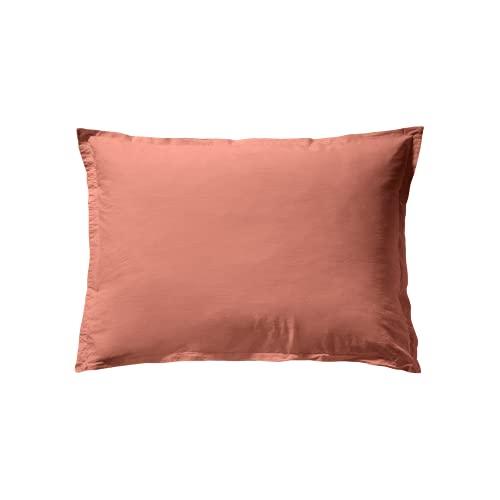 ESSIX Tendresse - Funda de Almohada (50 x 70 cm, algodón), Color marrón