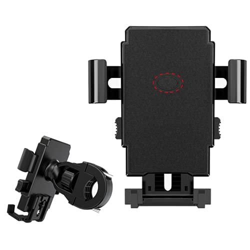 Ncheli Supporto Telefono Bicicletta, Metallico Supporto Motociclo - Universale Manubrio Supporto Cellulare per iPhone 12, 11 Pro, Xs Max, X, 8, 7, 6S, Samsung S10 S9 S8, 4.7-6.8 Pollici Smartphones