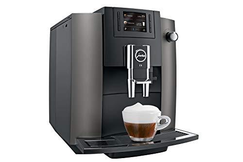 JURA E6 Dark Inox Espressomaschine, Edelstahl, 1,9 l, 16 Tassen, vollautomatisch, Espressomaschine, 1,9 l, integrierte Mühle, 1450 W, Edelstahl