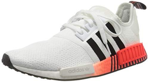 adidas Herren NMD_r1 Sneaker, FTWR White/Core Black/Solar Red, 42 2/3 EU