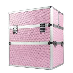 Cosmeticakoffer, beautycase, make-up koffer, nagelkoffer, kapperskoffer, XL Roze Glitter - Exclusief bij ONS verkrijgbaar - veel opbergruimte en een prachtig model