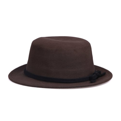 JTC–para mujer con parte superior plana Sombreros de fiesta Lana Caps cubeta Sombrero Bowknot