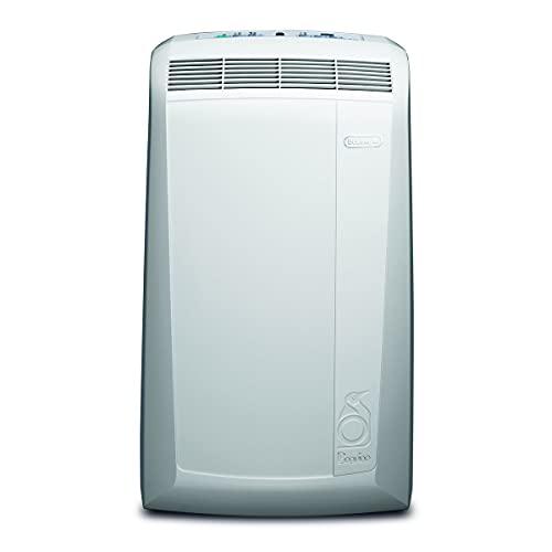 De'Longhi Pinguino PACN74ECO Climatizzatore Portatile Silenzioso, Funzione deumidificatore, 2.1 kW, 62 Decibel, Plastica, Bianco