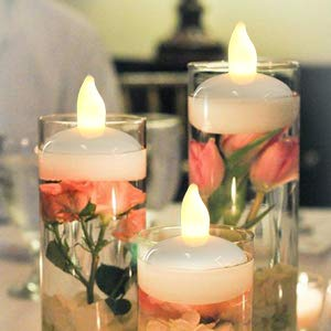 Floating Candles,IMAGE Flameless Floating LED Tea Lights 12 Pack Waterproof Tealight Candles for Wedding Party Spa Home Indoor Outdoor Decor-Warm White