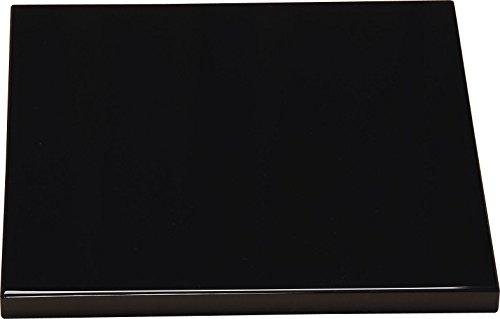 中村宗悦(Nakamura Souetsu) 敷板 黒 サイズ:縦29.2x横29.2x厚さ1.9cm 小板 真塗
