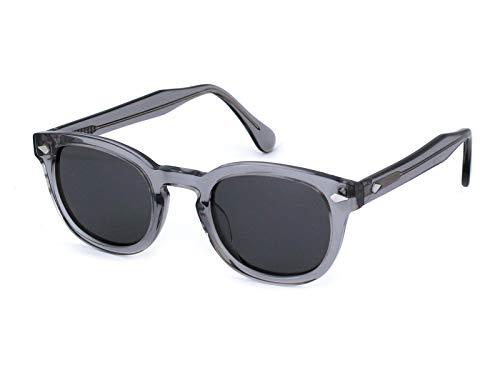 X-LAB Gafas de sol 8004 estilo moscot lentes polarizadas unisex (Gris, humo)