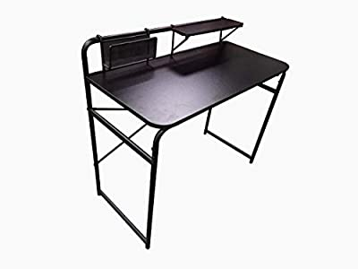 ABBY FUNCTIONAL DESK                         with shelf and metal basket, round tube:D22*0.8mm/ D10*0.8mm; oval tube:29*17*0.9mm; square tube:25*10*1.0mm; wire:7mm; PB:980*449*18mm;PB 470*110*12 mm