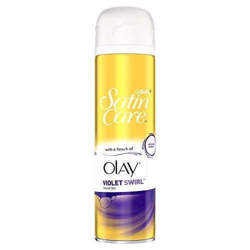 Gillette Satin Care and Olay Women's Shaving Gel Violet Swirl, 200 ml