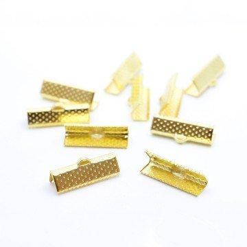 LaMercerieDesCopines Embouts Ruban Griffe x10 Embouts 25mm doré - Lot de 10