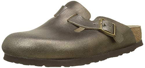 BIRKENSTOCK Damen Boston Clogs, Gold (Washed Metallic Antique Gold Washed Metallic Antique Gold), 36 EU