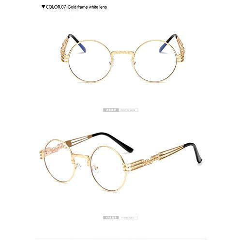 Taiyangcheng Gothic Steampunk zonnebril mannen vrouwen metaal ronde schaduw zonnebril spiegel hoge kwaliteit