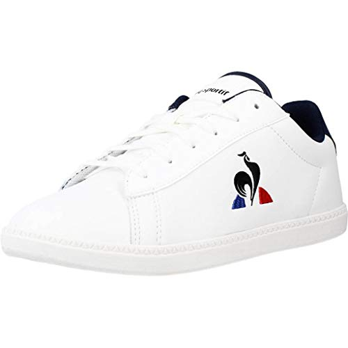 Le Coq Sportif Courtset GS, Zapatillas Unisex Adulto, Optical White/Dress Blue, 39 EU